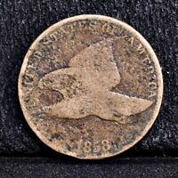 1858 FLYING EAGLE CENT - LARGE LETTERS - AG 35288
