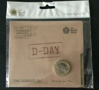 SEALED 2019 ROYAL MINT D-DAY 75TH ANNIVERSARY NORMANDY LANDINGS 2 COIN PACK