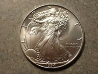 1994 SILVER EAGLEBLAST WHITE CHOICE BU