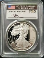 2018 W PCGS PROOF PR70 DCAM FDOI MERCANTI LABL SILVER EAGLE POP 178 PHILADELPHIA