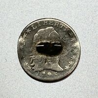 1795 FLOWING HAIR HALF DIME   AFFORDABLE KEY TYPE COIN