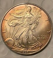 BEAUTIFUL GOLDEN-TONED 1997 SILVER EAGLE
