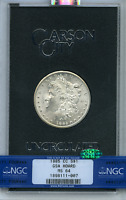 1885-CC MINT STATE 64 GSA HOARD MORGAN SILVER DOLLAR NGC CERTIFIED MINT STATE 64 CAC HOLDER ONLY