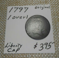 1797 HALF CENT - 1 OVER 1 VARIETY ORIGINAL NEVER CLEANED - 224 YRS OLD CHEAP