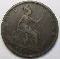 GREAT BRITAIN 1890 PENNY OLD DATE QUEEN VICTORIA