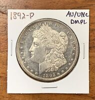 1892-P MORGAN SILVER DOLLAR ABOUT UNCIRCULATED/UNCIRCULATED AU/UNC DMPL