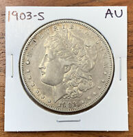 1903-S MORGAN SILVER DOLLAR ABOUT UNCIRCULATED AU