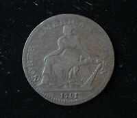VERY : 1781 NORTH AMERICAN TOKEN IN GOOD CONDITION   GREAT F