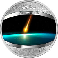 NIUE 2016 1$ MUONIONALUSTA METEORITE 1 OZ PROOF PURE METEORI