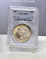 1903 MORGAN DOLLAR - PCGS MINT STATE 63 35406