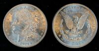 1921-P MORGAN VAM-3A2 SPIKED TAIL FEATHER, DIE GOUGE STATE 2 COIN GREAT LUSTER