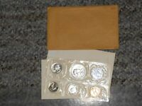 1956 US SILVER 5 COIN PROOF SET  ALL ORIGINAL SIDE OPENI US