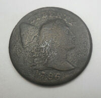 1796 LIBERTY CAP U.S. LARGE CENT ORIGINAL FINE & LITTLE GRAI