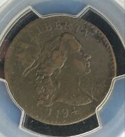 1794 LIBERTY CAP LARGE CENT 1C PCGS GENUINE EXTRA FINE  DETAILS SCRATCH