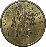 NEW CALEDONIA 100 FRANCS 2007 COIN T1