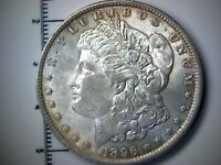 UNCIRCULATED 1896 MORGAN SILVER DOLLAR - $1 MINT STATE