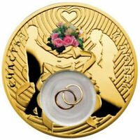 WEDDING COIN GOLD PLATED PROOF SILVER COIN 2$ NIUE 2013