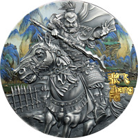 ZHANG FEI WARRIORS OF ANCIENT CHINA 3 OZ ANTIQUE FINISH SILV