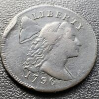 1796 LARGE CENT LIBERTY CAP FLOWING HAIR ONE CENT HIGHER GRA
