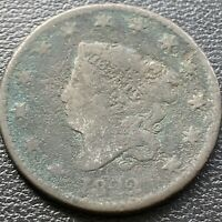 1822 LARGE CENT CORONET HEAD ONE CENT 1C CIRCULATED 28990