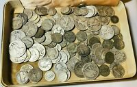1/4LB OF OLD SILVER COINS FROM AN OLD JEWELRY BOX. MOSTLY 90