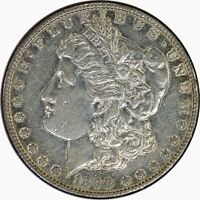 1890-S SILVER MORGAN DOLLAR UNCERTIFIED AU DETAILS COIN
