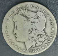 1894-S MORGAN SILVER DOLLAR IN GOOD CONDITION MUCH BETTER SEMI KEY DATE