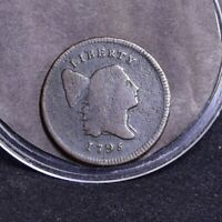 1795 HALF CENT - LETTERED EDGE WITH POLE - VG 35659