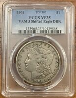 1901 MORGAN SILVER DOLLAR PCGS VF35VAM 3 SHIFTED EAGLE DDR
