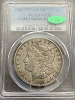 M14089- 1901 VAM-3 SHIFTED EAGLE, DDR TOP 100 MORGAN DOLLAR PCGS VF35 CAC