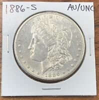 1886-S MORGAN SILVER DOLLAR ABOUT UNCIRCULATED/UNCIRCULATED AU/UNCBETTER DATE