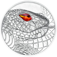 2021 AUSTRALIA  THE SERPENT CREATOR SILVER COIN   EYES OF THE WORLD