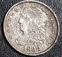 1833 US CAPPED BUST HALF DIME        RA49