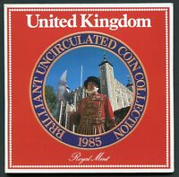 GREAT BRITAIN BRILLIANT UNCIRCULATED COIN COLLECTION 1985 IN