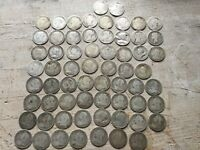 64 X 19TH CENTURY SILVER 3 PENCE PIECES VICTORIAN COIN COLLE