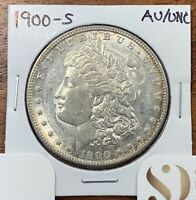 1900-S MORGAN SILVER DOLLAR ABOUT UNCIRCULATED/UNCIRCULATED AU/UNC