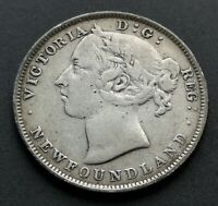CANADA  20  CENTS  1896  NL       NICE  CONDITION