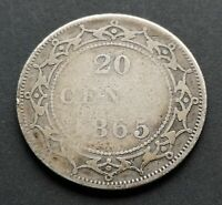 CANADA  20  CENTS  1865  NL       LOWER  CONDITION