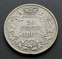 CANADA  20  CENTS  1862  NB        NICE  CONDITION