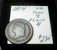 1814 THE PERFECT  GOOD CLASSIC HEAD LARGE CENT - BOLD DATE & LIBERTY