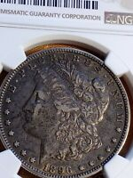 1896 O MORGAN SILVER DOLLAR, BEAUTIFUL COIN NGC CERTIFIED VF35 LE501