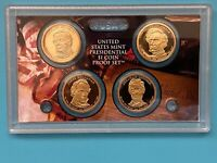 2010 PRESIDENTIAL $1 PROOF SET; HARRISON, TYLER, POLK, TAYLOR IN PLASTIC LENS