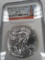 2011S MS70 PERFECT AMERICAN SILVER EAGLE, NGC SF GOLDEN GATE, SHIPS FREE