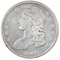 1836 CAPPED BUST SILVER HALF DOLLAR 50C - CIRCULATED - LETTERED EDGE