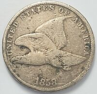 1  GOOD LOW MINTAGE 1858 S/L FLYING EAGLE CENT