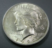 1922 P - PEACE SILVER DOLLARS - 90 SILVER - LOT  9888