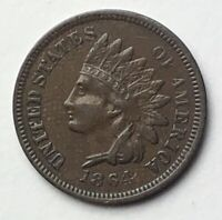 1864 L ON RIBBON CHOICE VF INDIAN HEAD PENNY MPD/RPD SEE DESCRIPTION