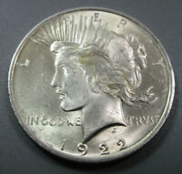1922 P - PEACE SILVER DOLLARS - 90 SILVER - LOT  403