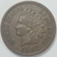 3  FINE TO  FINE LOW MINTAGE 1902 INDIAN HEAD CENT