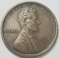 4  FINE TO CH/AU LOW MINTAGE 1919 S LINCOLN WHEAT CENT